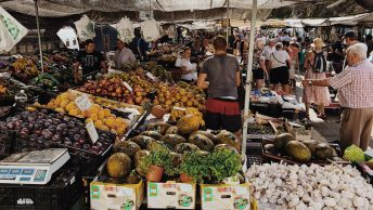 street market in Fuengirola Spain