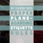 Plane Boarding Etiquette Featured