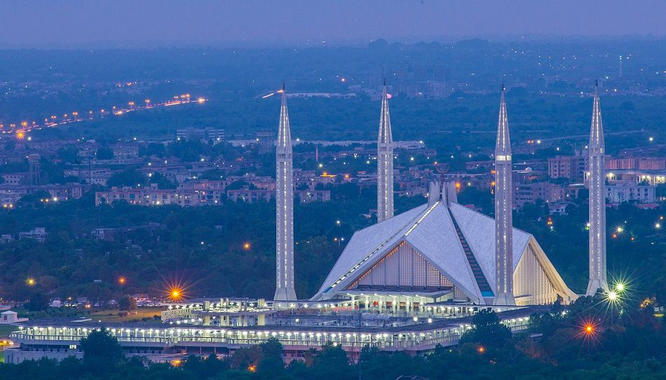 Faisal Mosque in Islamabad Pakistan