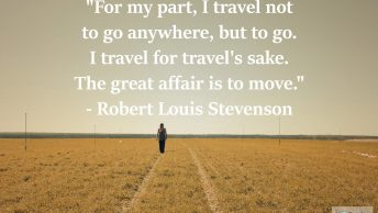travel quote robert louis stevenson