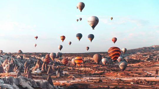 hot air balloons in Cappadocia Turkey daytime