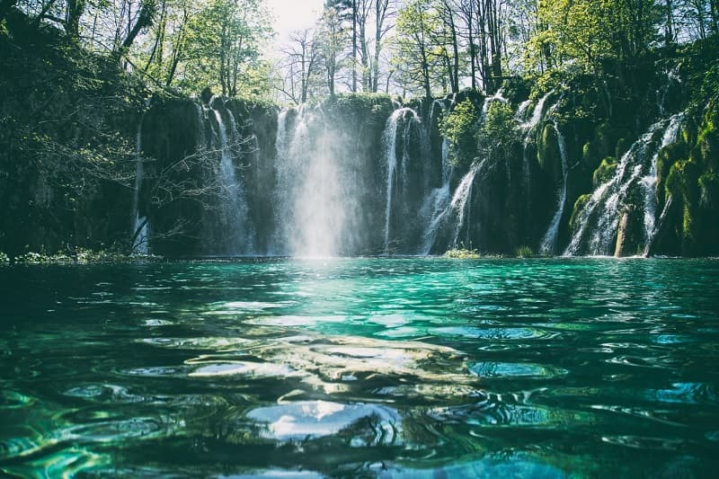 Plitvice Lakes National Park, Plitvička Jezera, is one of the best places to go in Croatia