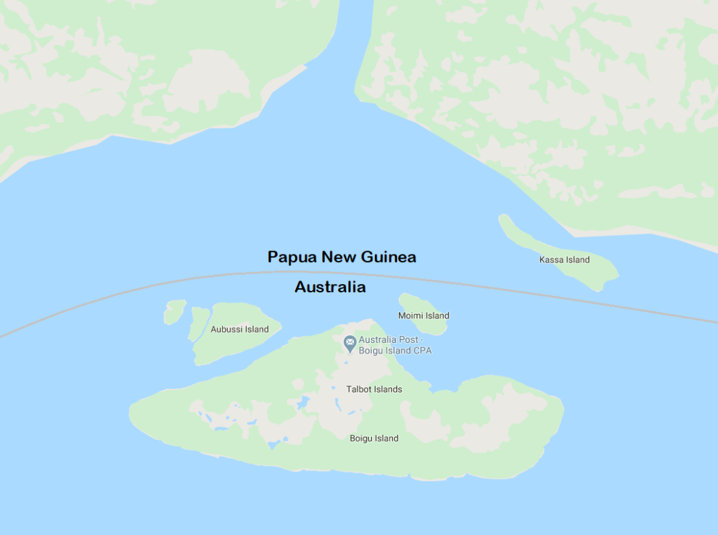 Talbot Islands distance from Papua New Guinea facts