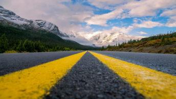 Trans-Canada Highway in Alberta North American road trips