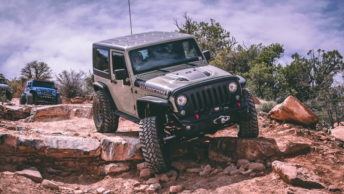 jeep off-roading in Moab, Utah, one of the best places in the US to go on an off-road adventure
